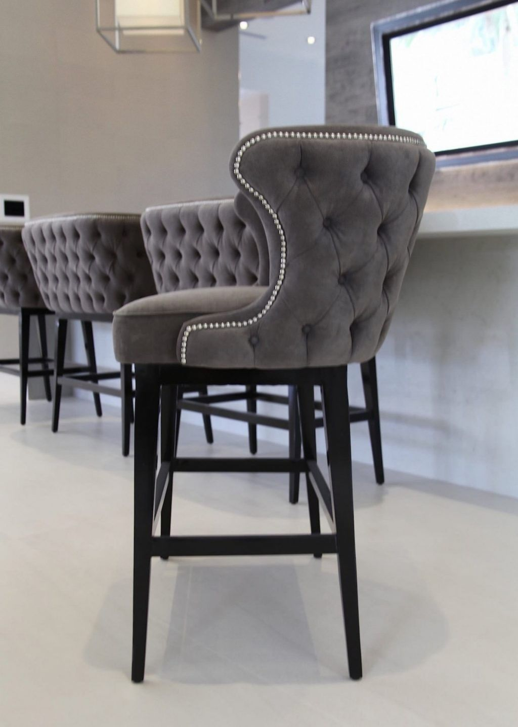 Bar Stool Bench Stools Wooden Kitchen Counter Height Upholstered