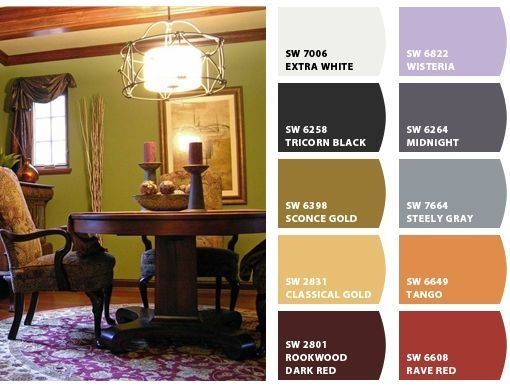 wall colors with dark trim - Google Search   Dining Room   Pinterest ...