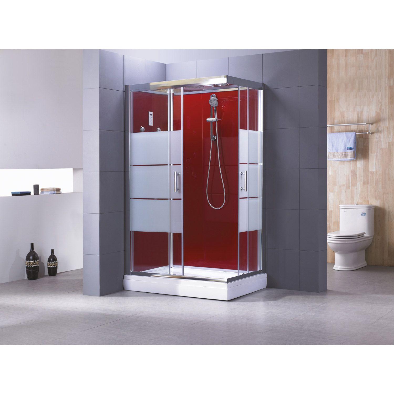 Cabine de douche Optima2 rouge hydromassante mitigeur ...
