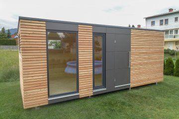 Design Gartenhaus mit Fundermax Platten S12