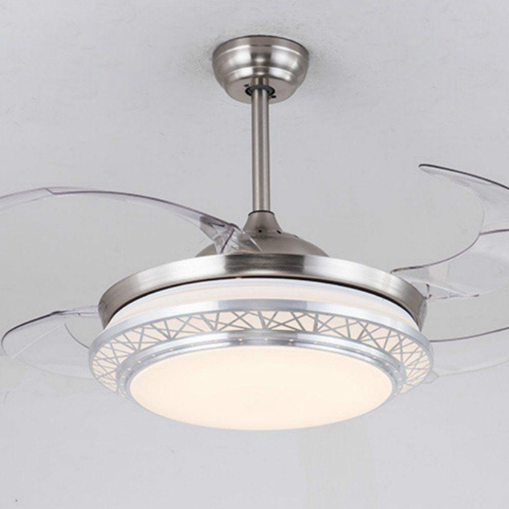 Lighting Groups Modern Acrylic Blades Cool Ceiling Fan Light Kit 42 Inch Energysaving Mute Fan Chandel Ceiling Fan With Light Fan Light Kits Modern Ceiling Fan