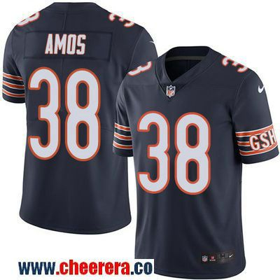 Men's Chicago Bears #38 Adrian Amos Navy Blue 2016 Color Rush Stitched NFL Nike Limited Jersey