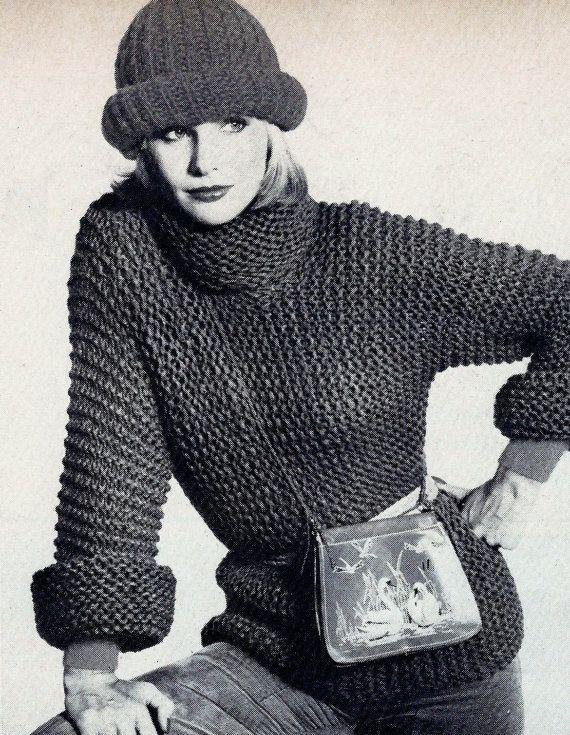 Easy Knit Pullover Sweater Vintage Knitt - Post