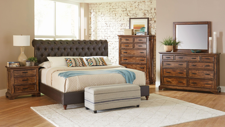 Gresham Bedroom Set Brown and Vintage Bourbon - Coaster Fine ...