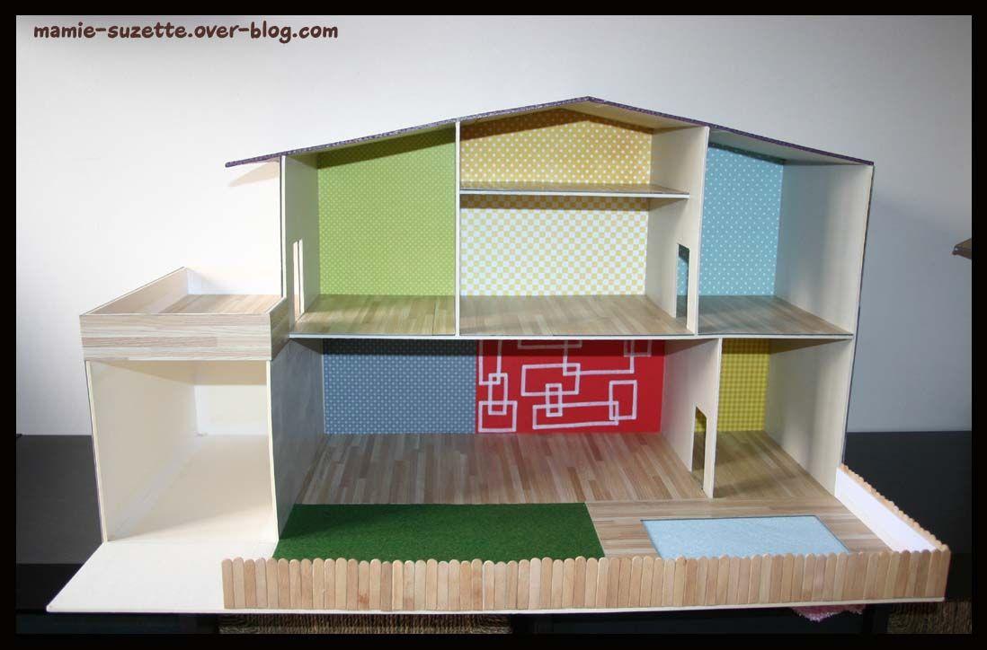 Maison playmobil fait main enfants pinterest - Construire une maison playmobil ...