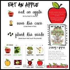 preschool apple theme lesson plans