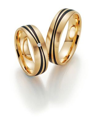 Trouwring Goud Carbon Trouwringen Wedding Rings Rings
