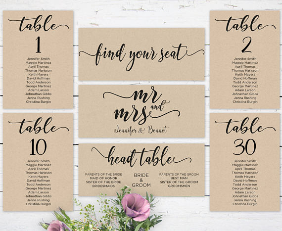 mr mrs wedding seating chart template editable header signs and