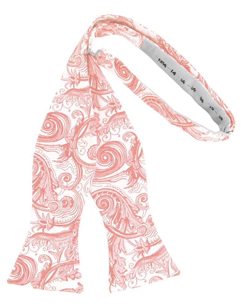 Coral Reef Tapestry Self-Tie Formal Bow Tie