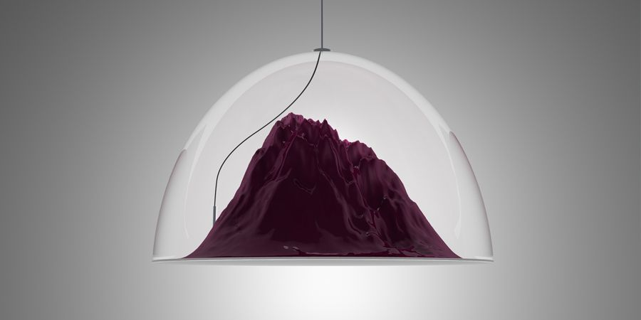 This would be awesome over the dining room table...with little figurine mt climbers hanging off it!  >>> 'Mountain View' suspension lamp by Dima Loginoff.