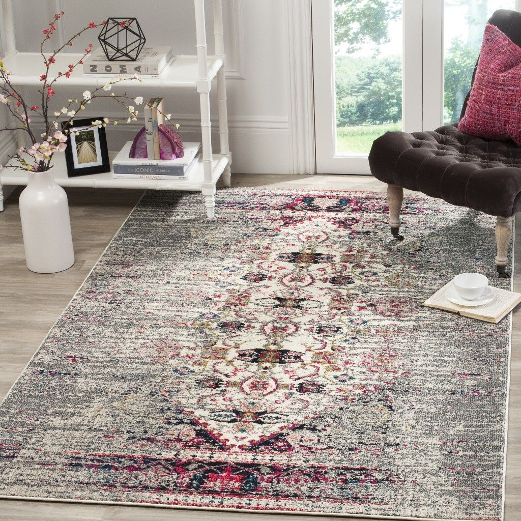 Best Monaco Collection 5 1 X 7 7 Rug In Grey And Ivory 400 x 300