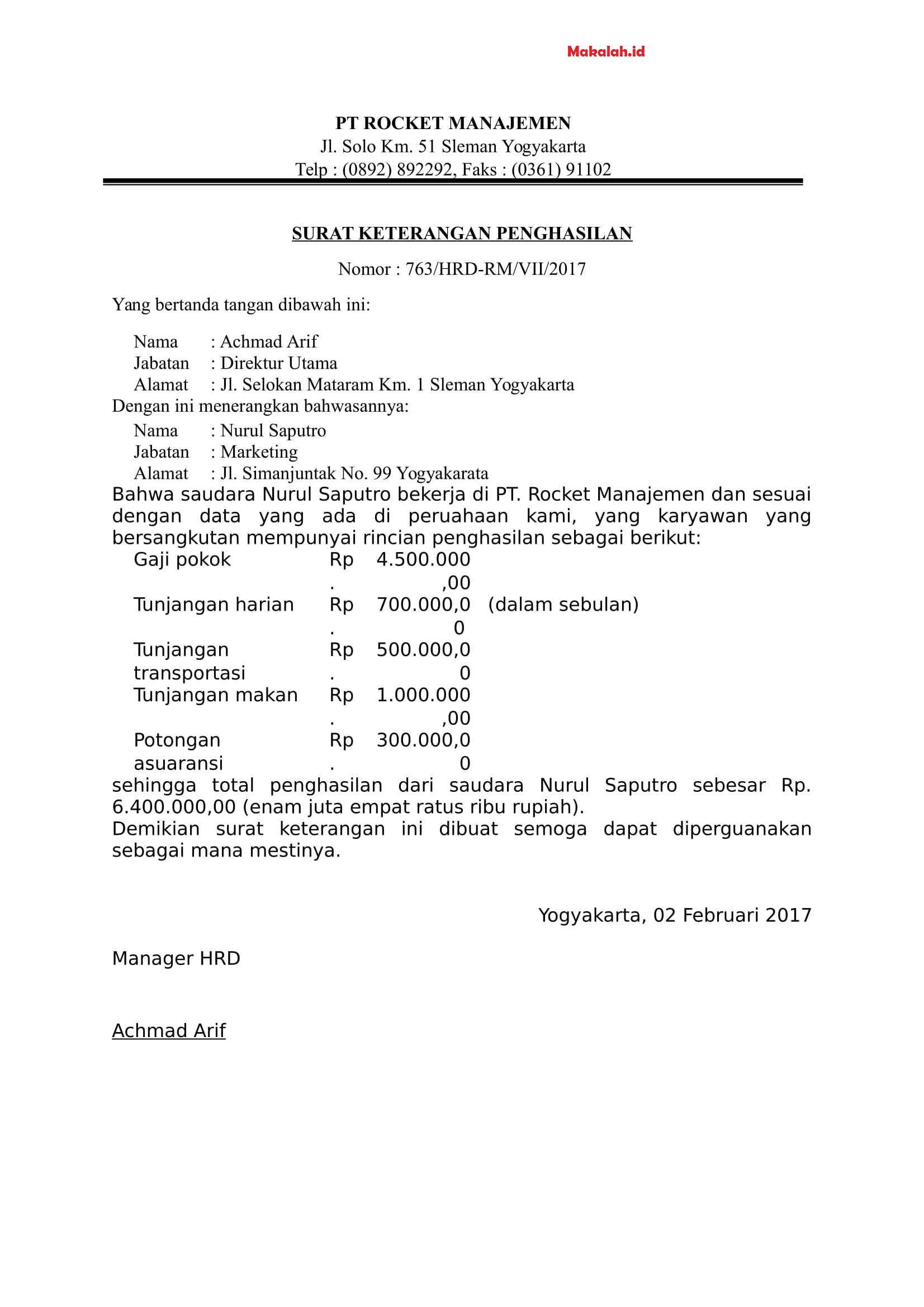 Contoh Surat Pernyataan Domisili Usaha Download Kumpulan Gambar