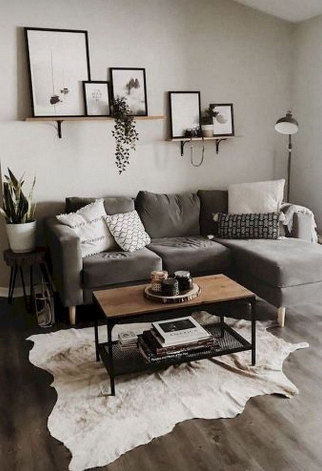 51 Neutral Living Room Ideas - Earthy Gray Living Rooms To Copy images