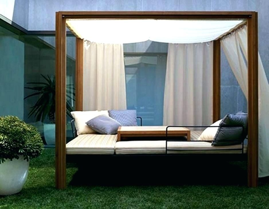 Modern Outdoor Daybed With Canopy Garten Outdoor Daybed Teak