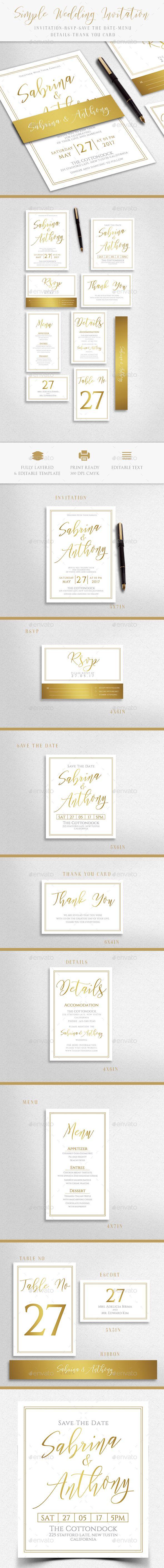 Wedding Invitation Card Template PSD | Card & Invite Design ...