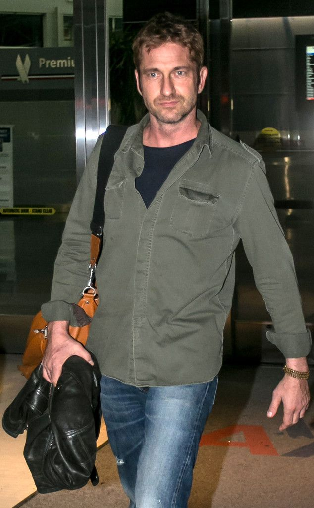 Gerard Butler from The Big Picture: Arriving at JFK in New York September 26, 2013. He must be getting so psyched for the Global Citizen Festival tomorrow!