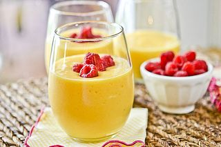 Peach Mango Smoothie by Full Fork Ahead