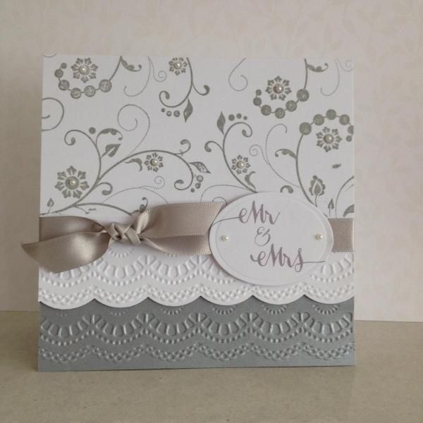 Elegant wedding card by lesleybd cards and paper crafts