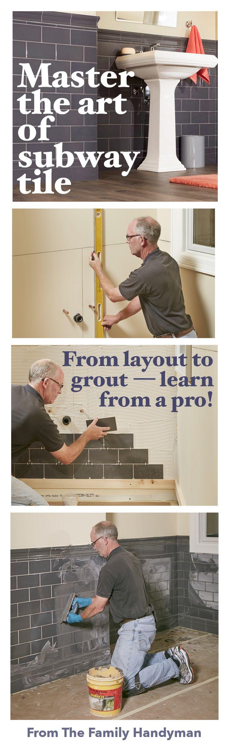 master the art of subway tile the bathroom kitchen remodel rh pinterest com