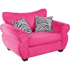 Teen Bedroom Seating | Heather Pink Mini Sofa - Seating | Bedrooms ...