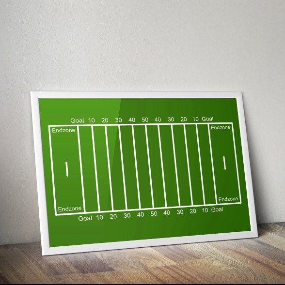 Football Field Print Boy S Room Nursery Printable