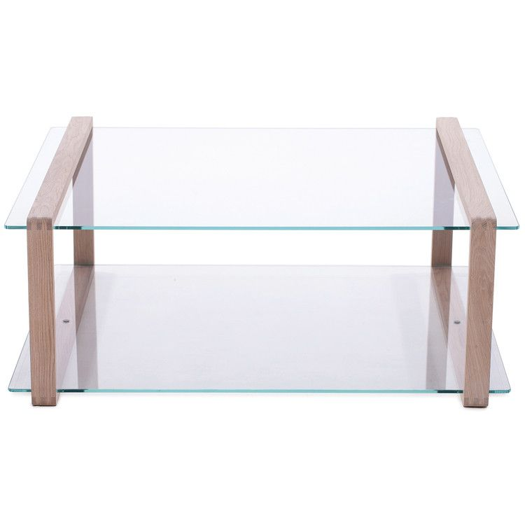 Another Brand Ponte Oak And Glass Coffee Table From