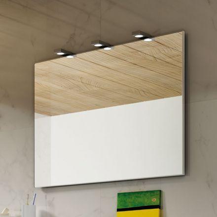 Miroir lumineux avec cadre en aluminium idéale pour salle de bain