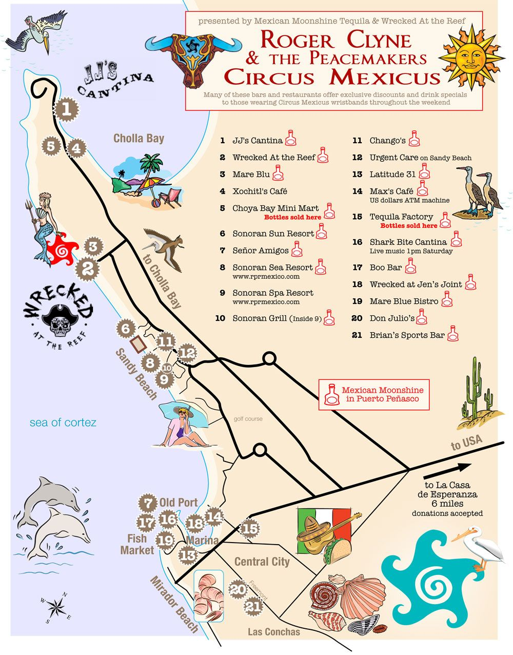 Sandy Beach Map Rocky Point Circus Mexicus RCPM Pinterest - Map usa beaches