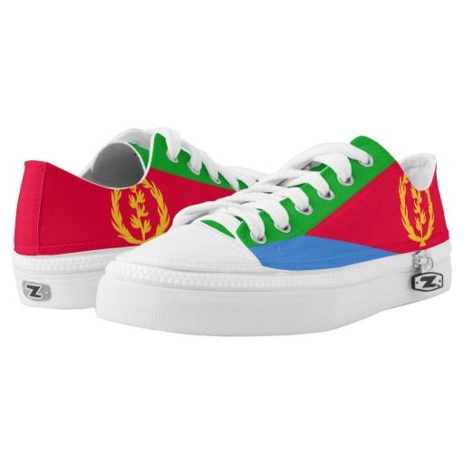 2e56bd690e Eritrea Flag Low-Top Sneakers Eritrean Shoes Pride Asmara Gifts
