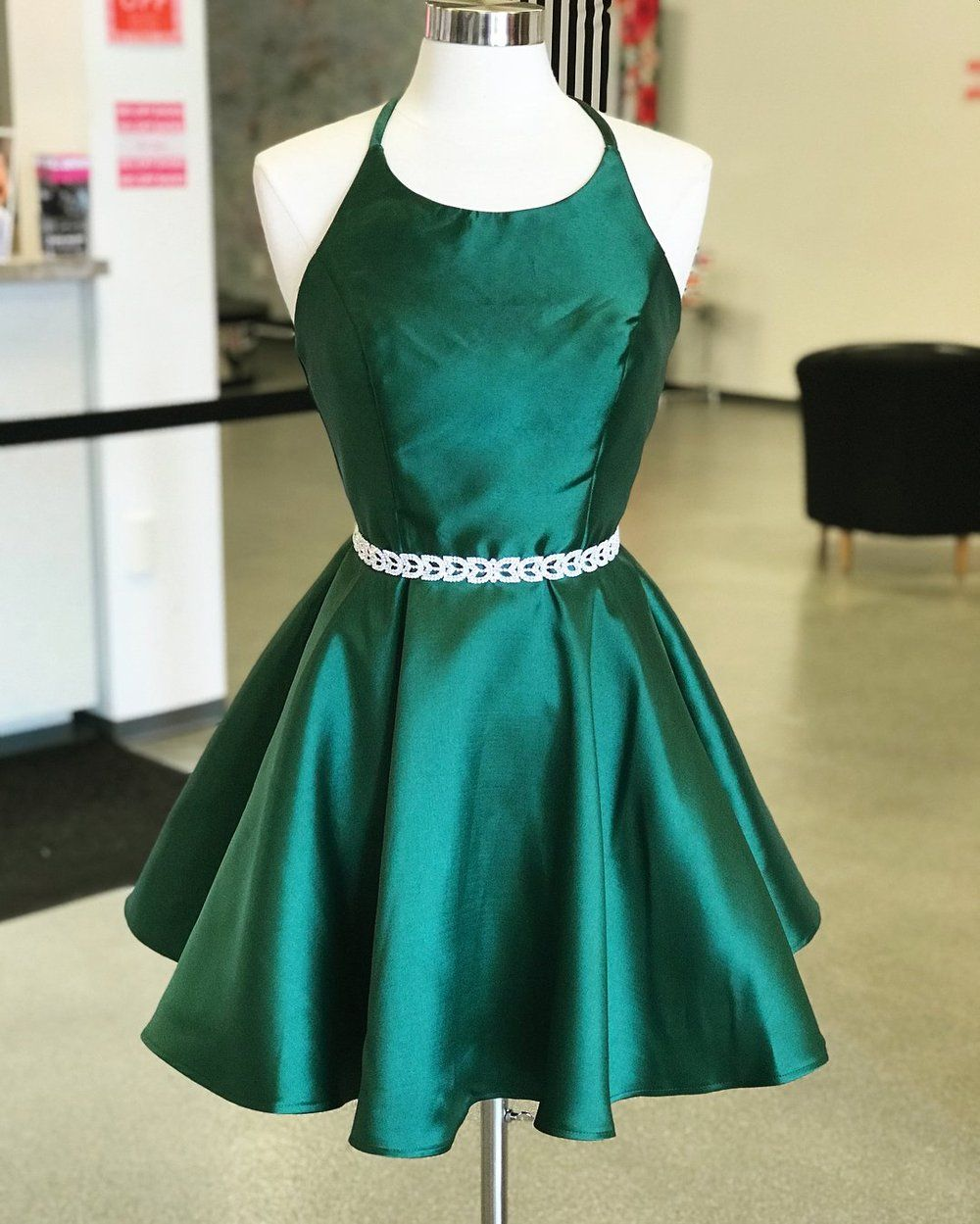 Sexy emerald green homecoming dresses backless simple homecoming