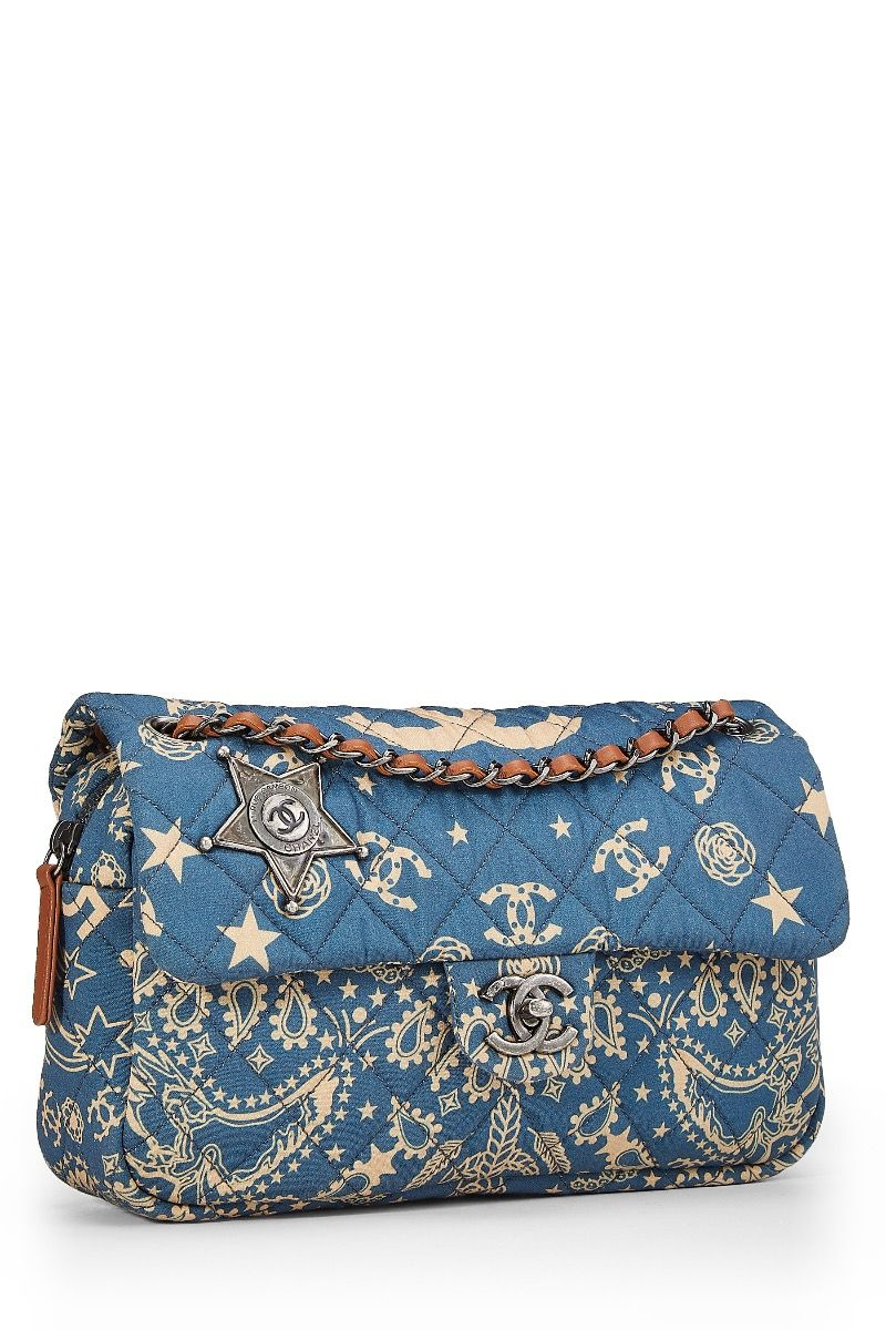 40381f47582a Chanel Paris-Dallas Blue Bandana Half Flap - What Goes Around Comes Around