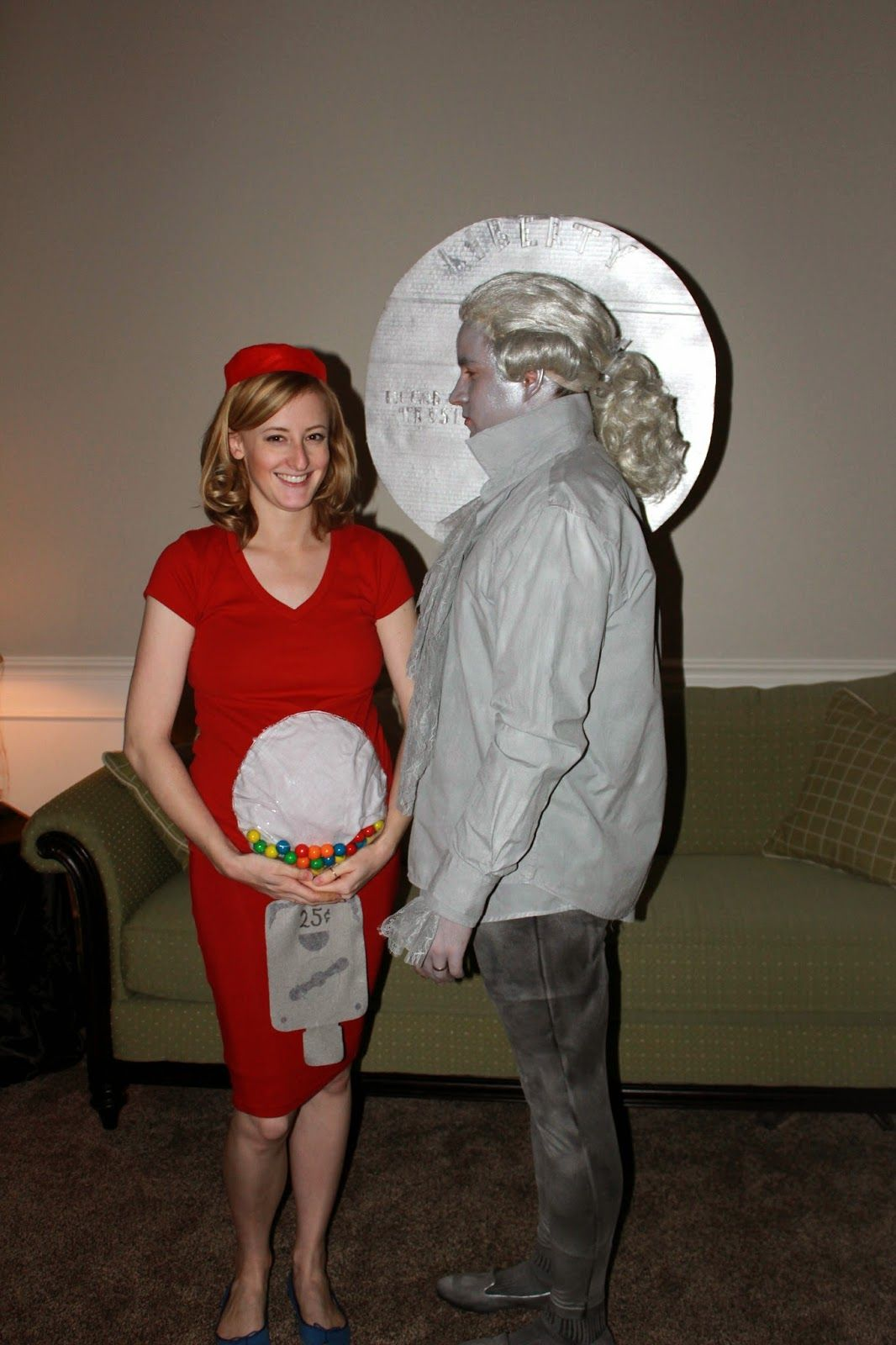 Couples costume + pregnant costume - gumball machine and a quarter ...