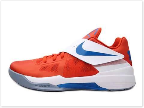 Nike Zoom KD IV Team Orange Photo Blue White 473679 800. T Rabatt Nike 2c39c4372