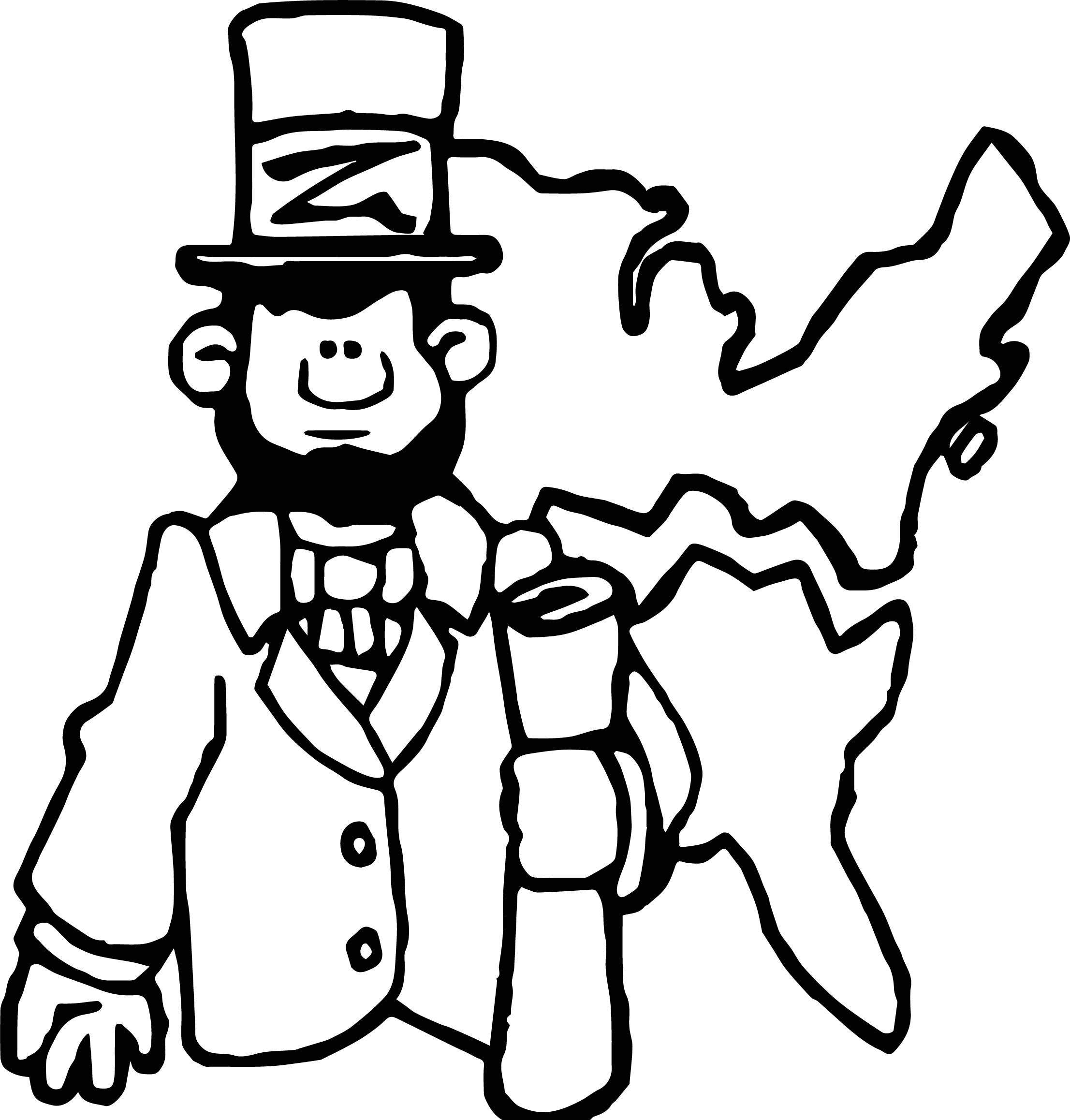 Awesome Abraham Lincoln President Map Coloring Page Fathers Day Coloring Page American Flag Coloring Page Coloring Pages For Kids