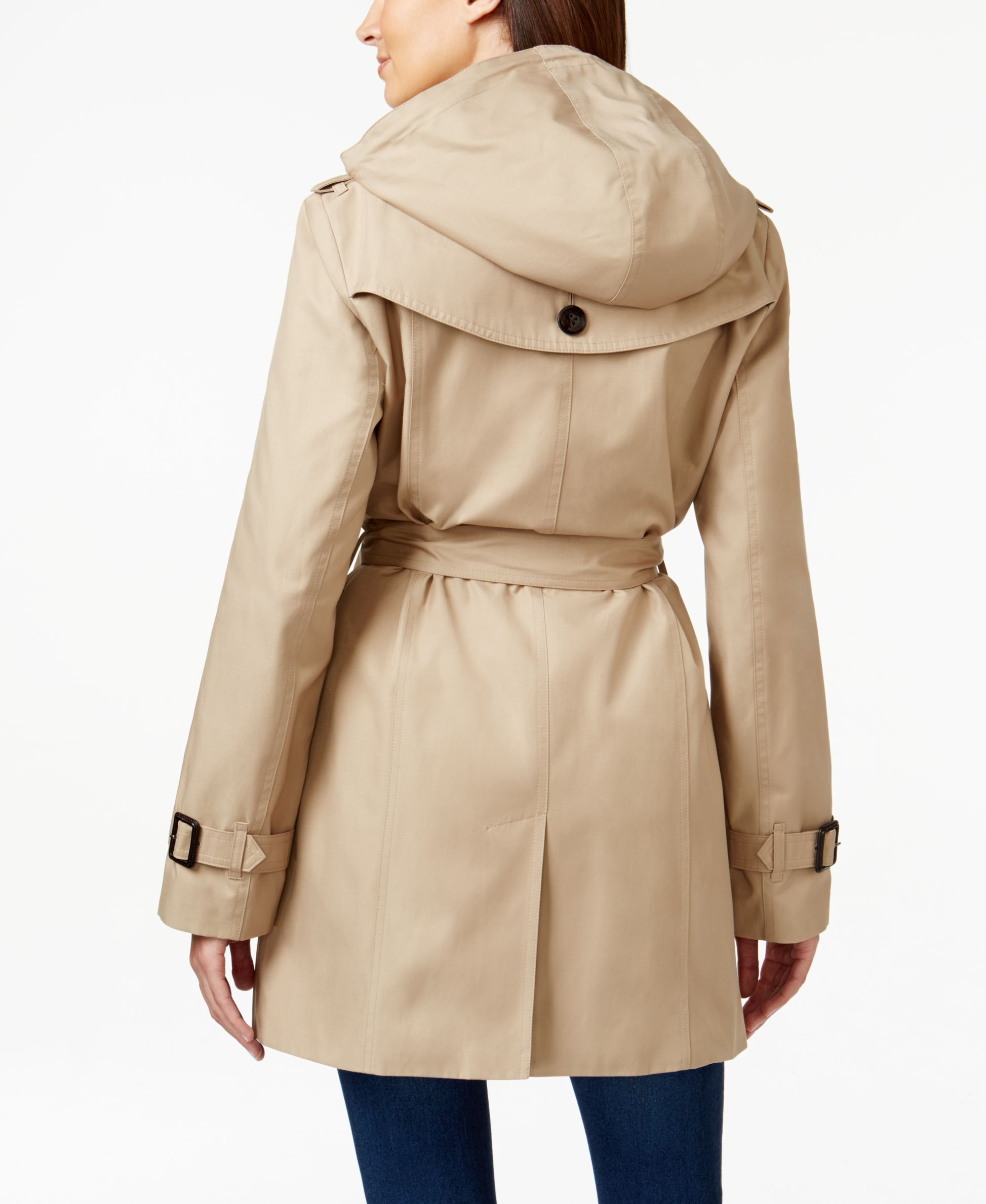 Michael Michael Kors Hooded Double Breasted Trench Coat Michael Kors Coats Jackets Women Macy S Trench Coat Coats Jackets Women Michael Kors Coats [ 2378 x 1947 Pixel ]