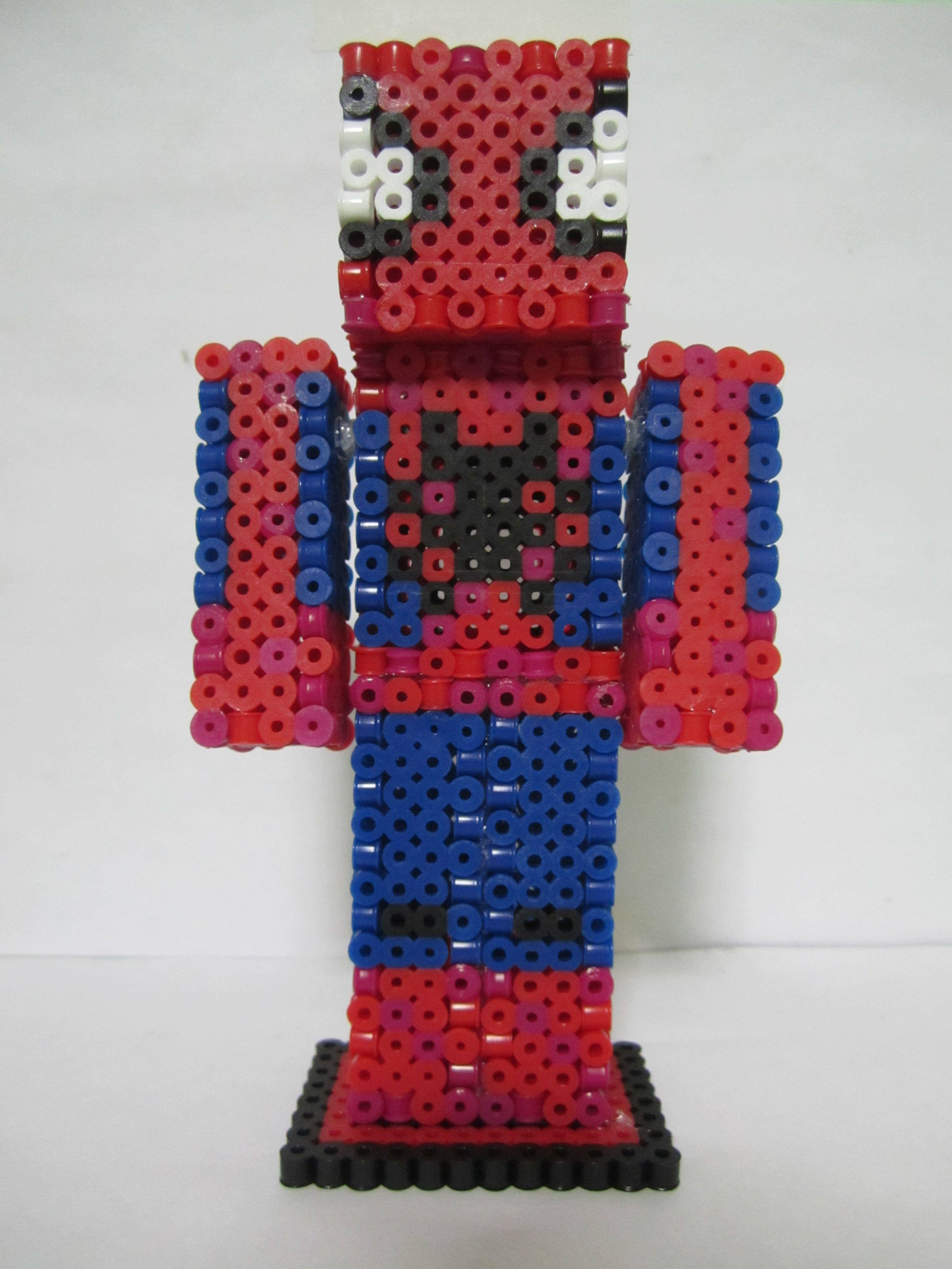 Spiderman Minecraft Skin 3dperler Beads Perler Beads Perler