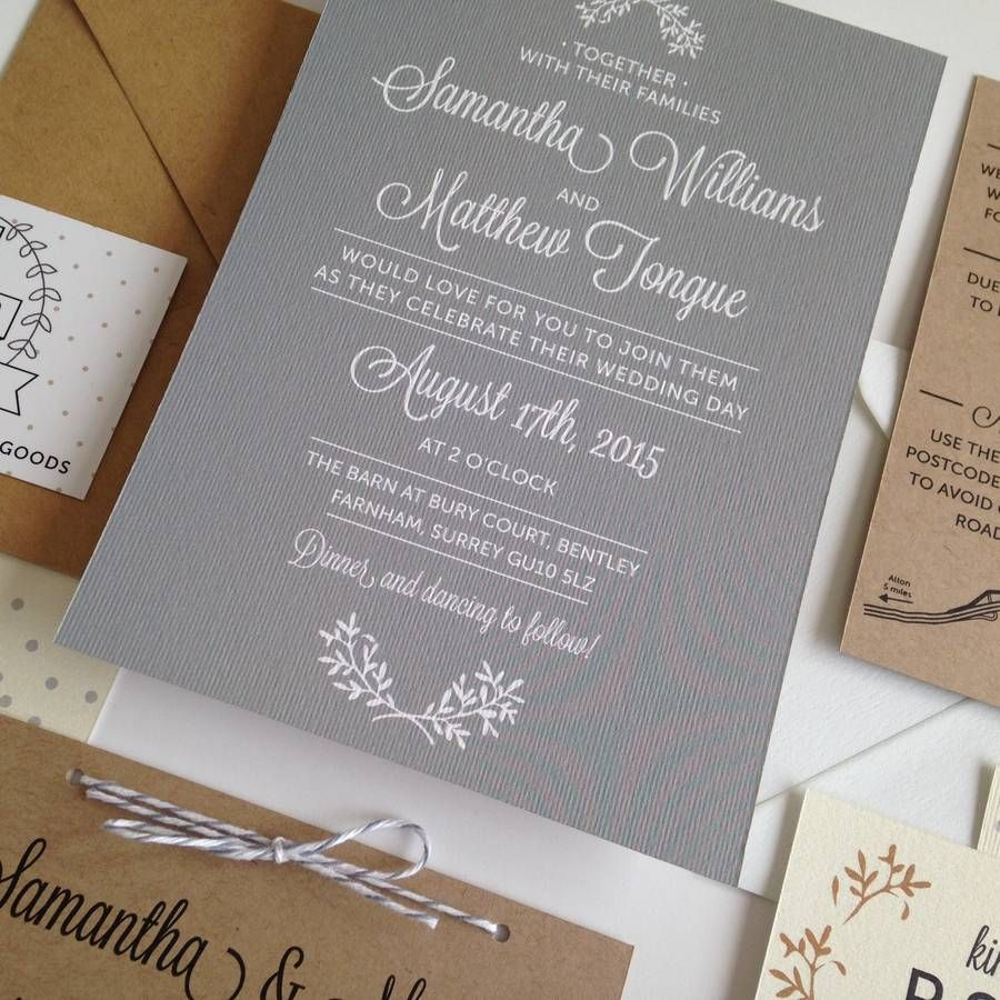 Understated and elegant wedding invitations with a
