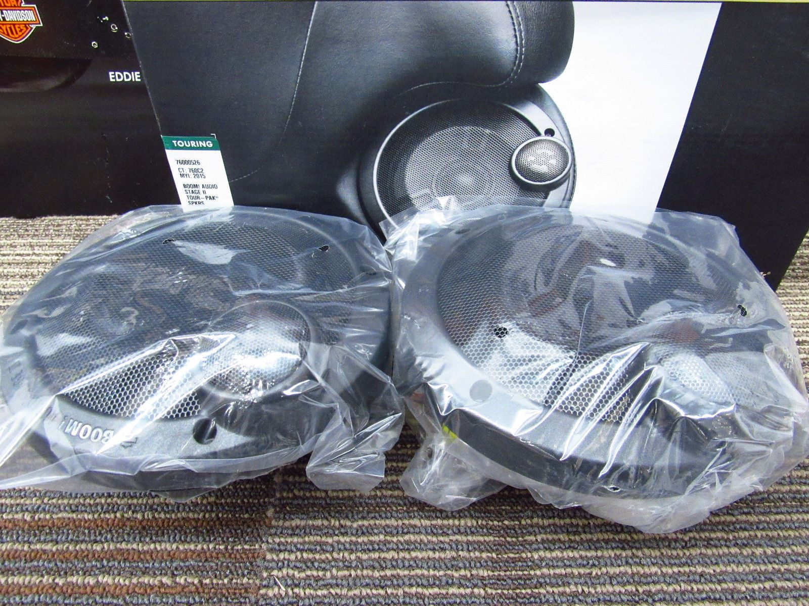 Harley Davidson Boom Audio Stage 2 Speaker Kit For Tour Pak Luggage 76000526 Please