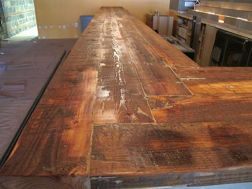 Find this Pin and more on Bar ideas. - Paulie's Toasted Barrel Reclaimed Wood Bar Bars Pinterest