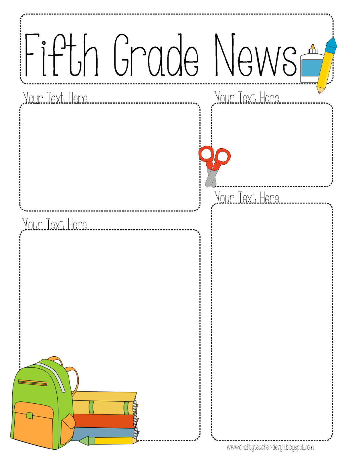 Completely Editable Newsletter For All Grades  Newsletter
