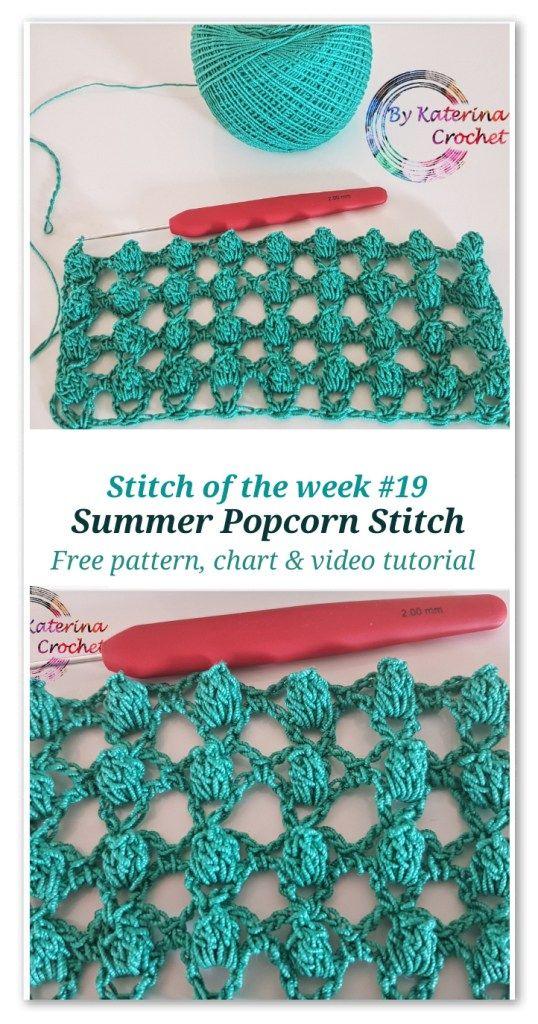 Stitch of the week #19: Summer Popcorn Stitch in 2018 | el işleri ...