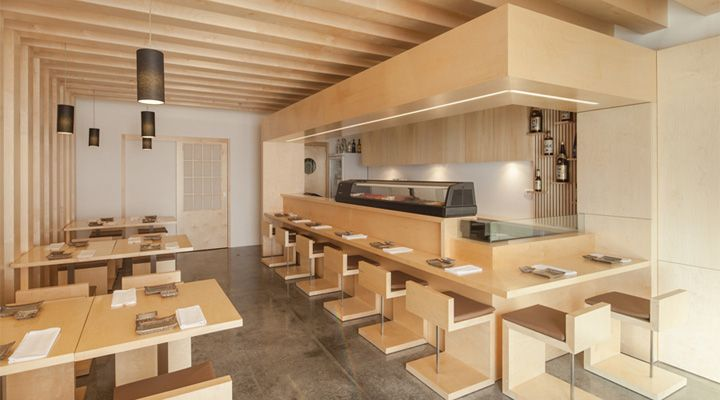 Sushi Bar Design sushi pearlplan associated architects, faro portugal