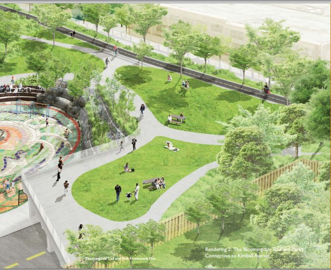 Chicago New Bloomindale trail #chicago #greenlandscaping #urbandesign #community http://the606.org/wp-content/downloads/Bloomingdale-Framework-Plan.pdf
