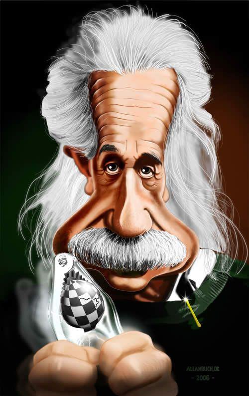 Resultado de imagem para Einstein caricatura linda