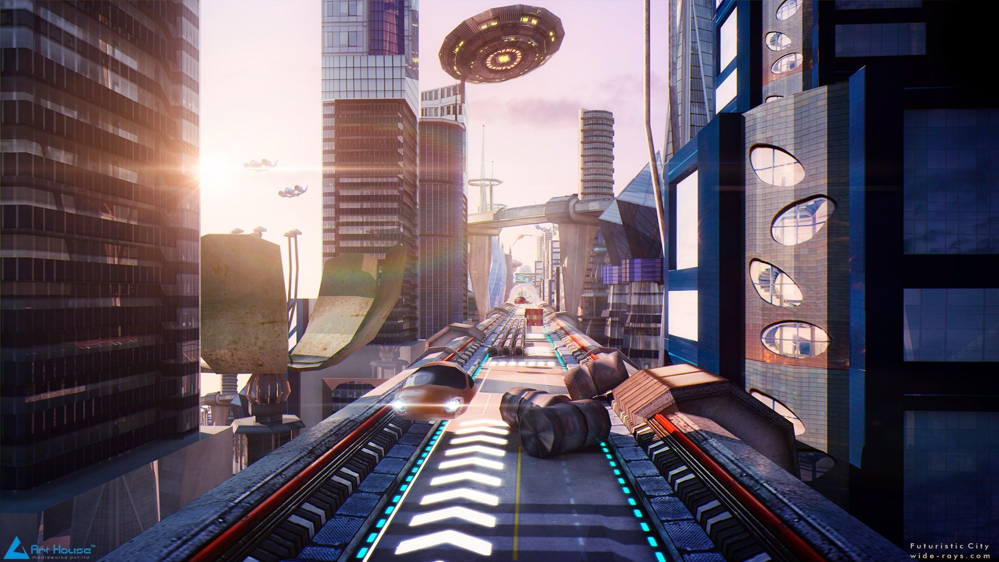 how to create a futuristic city in 3ds max