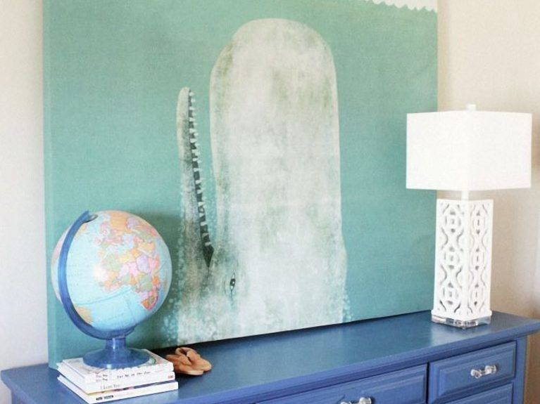 wunderschoene duschvorhaenge ideen, diy-anleitung: wandbild aus einem duschvorhang bauen via dawanda, Design ideen
