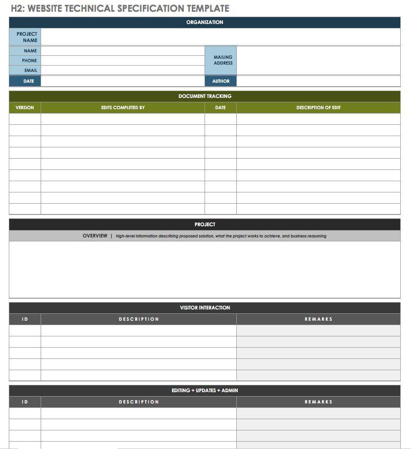 Website Technical Specification Template | SD:SDLC | Coupon