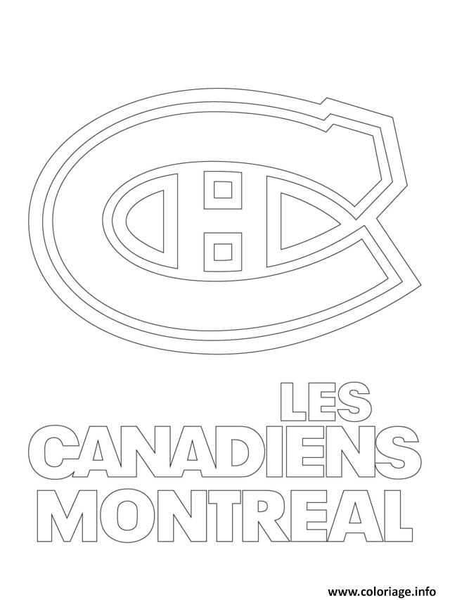 Coloriage les canadiens de montreal habs logo lnh nhl hockey sport1 ...