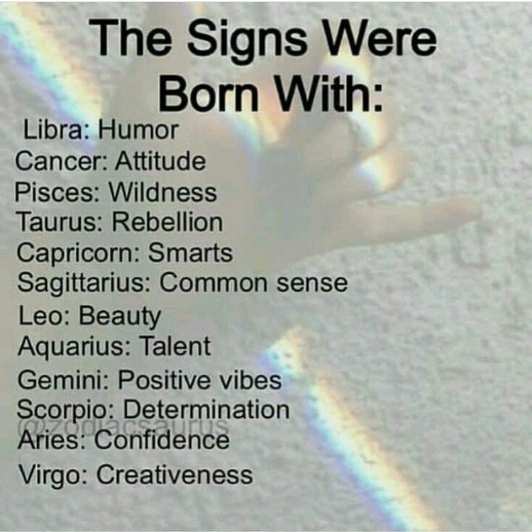"just vibin :P on Instagram: ""What were you born with? comment below � follow @zodiacvibe.z fo..."