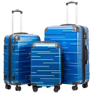 8f63e760c97 Coolife Luggage Set we re reviewing today is made of three pieces of 20, 24  and 28-inch hardshell suitcases with solid ABS plastic